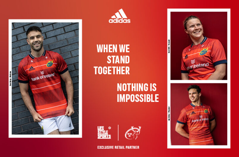New Munster Rugby adidas home jersey