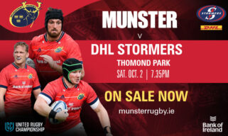 Tickets On Sale | Munster v DHL Stormers In Two Weeks