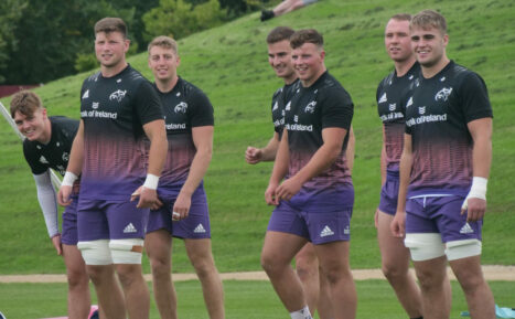 Members of the Munster squad at training.