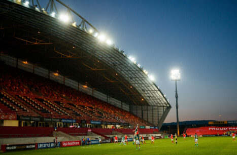 Supporters make their long-awaited return to Thomond Park on Saturday night.