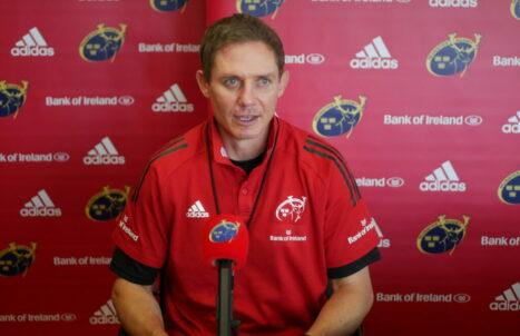 Munster Senior Coach Stephen Larkham.