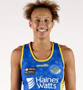 Serena Guthrie of Team Bath Netball.