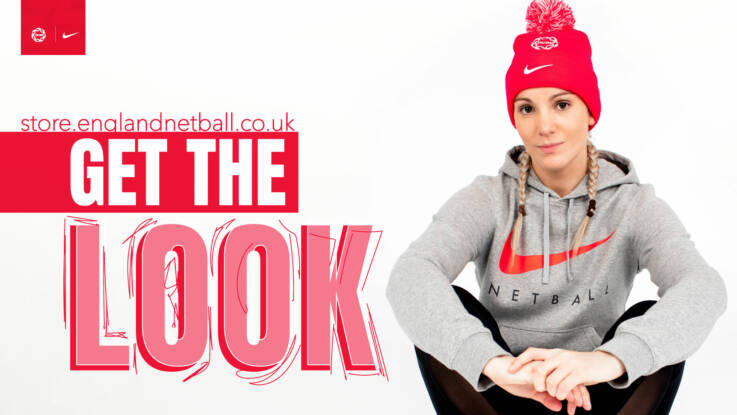 Get the Look - shop the England Netball store