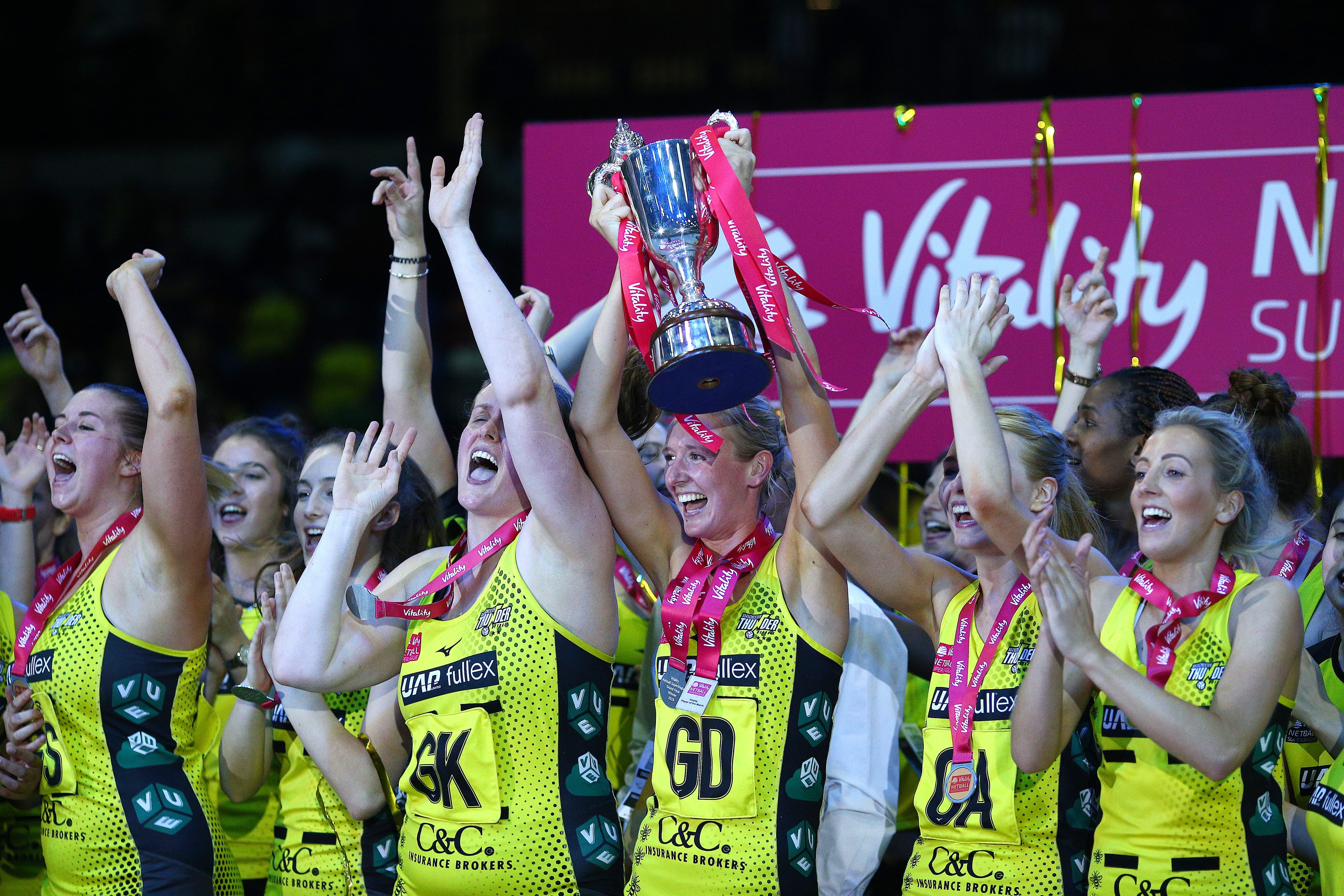 Vitality Netball Superleague   Thunder crowned 2019 champions
