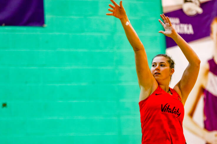 Eleanor Cardwell in training for the Vitality Roses.