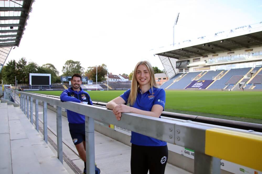 Jade Clarke and Dan Ryan of Leeds Rhinos.