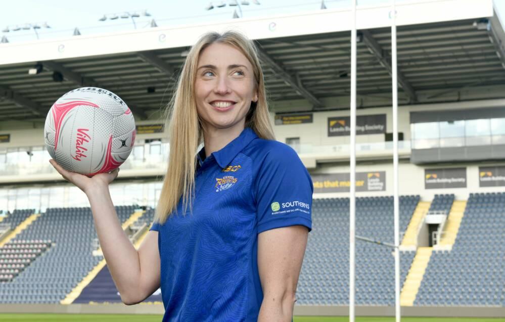 Leeds Rhinos signing Jade Clarke on her arrival in 2020.