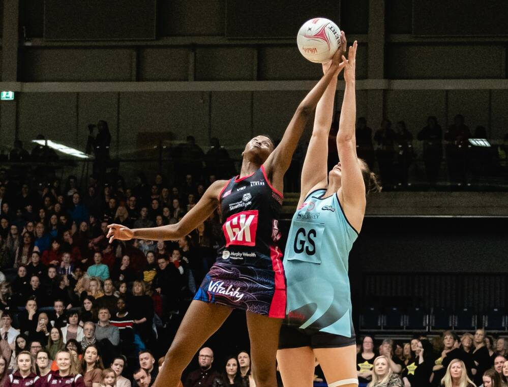 Zanele Vimbela of South Africa and Strathclyde Sirens.