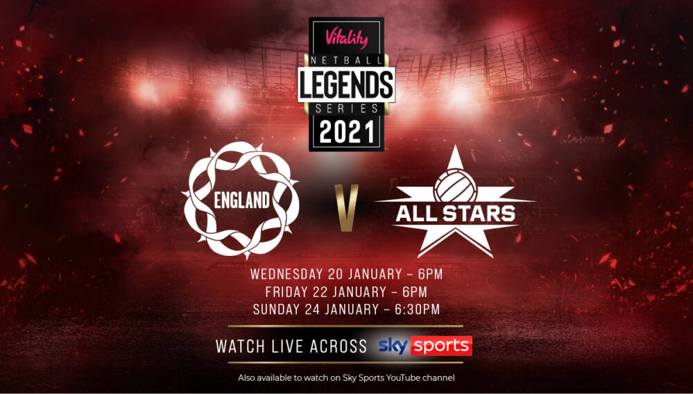 Vitality Roses to play a Vitality Netball Superleague 'All Stars' side in Legends Series