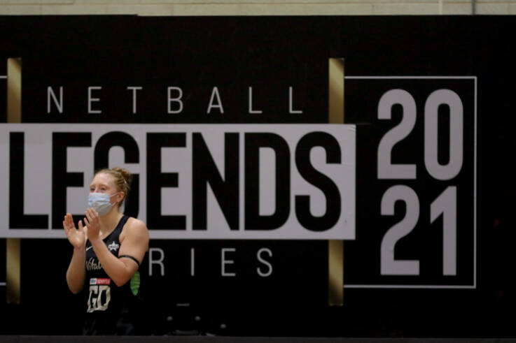 Sam May during the Vitality Netball Legends Series.