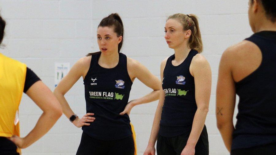 Fi Toner and Jade Clarke of Leeds Rhinos Netball.
