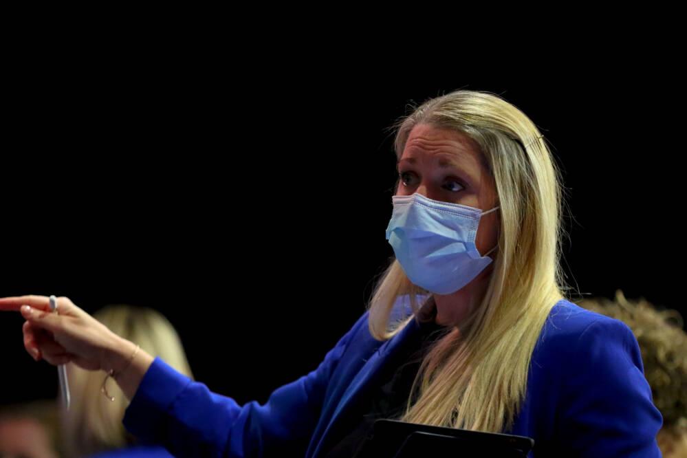 Anna Stembridge of Team Bath Netball.