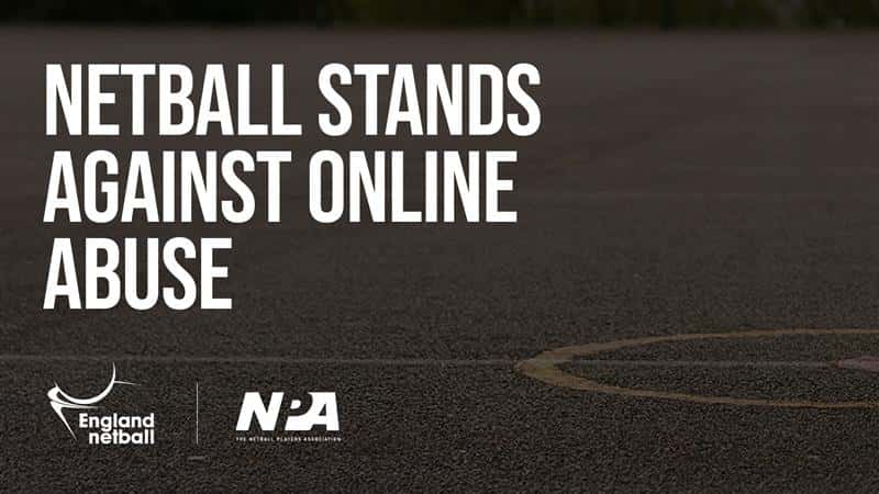 Netball stands against online abuse.