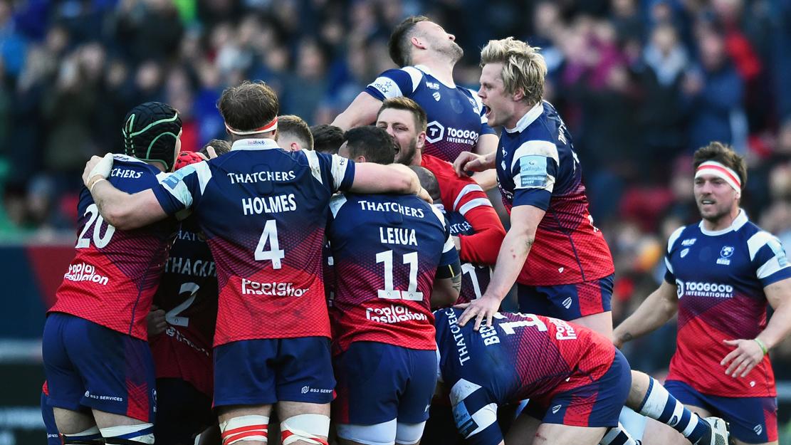 Bristol Bears players celebrate