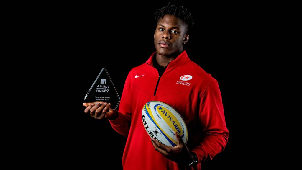 Maro Itoje named Aviva Premiership Rugby Player of the Month for December