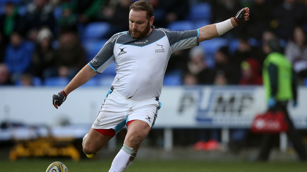 Goode is five and kicking for Newcastle Falcons