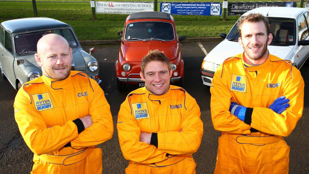 Leicester Tigers Dan Cole, Tom Youngs and Tom Croft hit the road for Aviva driving challenge