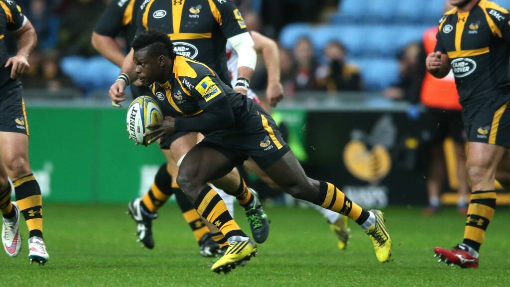 Wasps team to play Newcastle Falcons at the Ricoh Arena