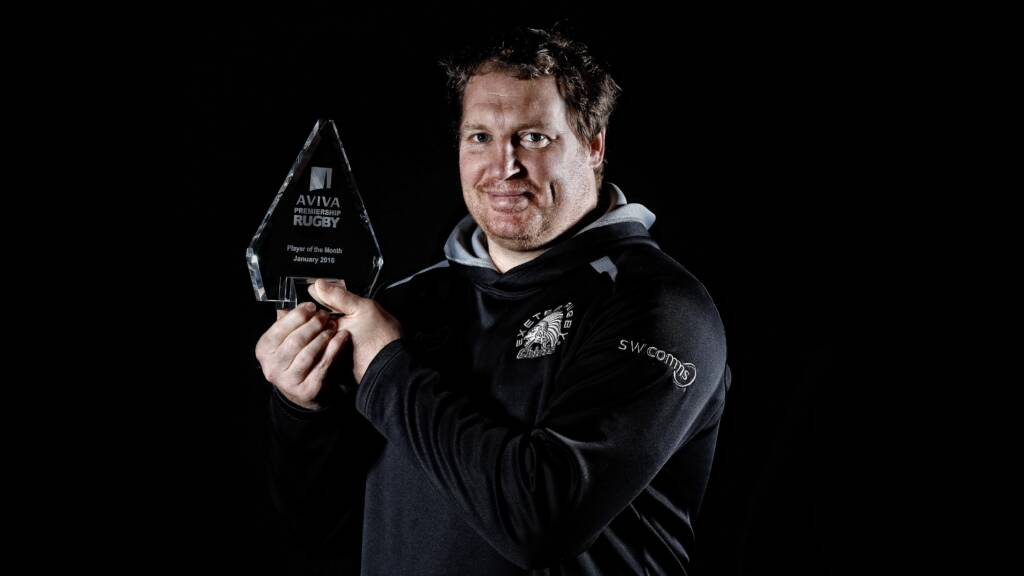 Thomas Waldrom, Exeter Chiefs, named Aviva Premiership Rugby Player of the Month for January