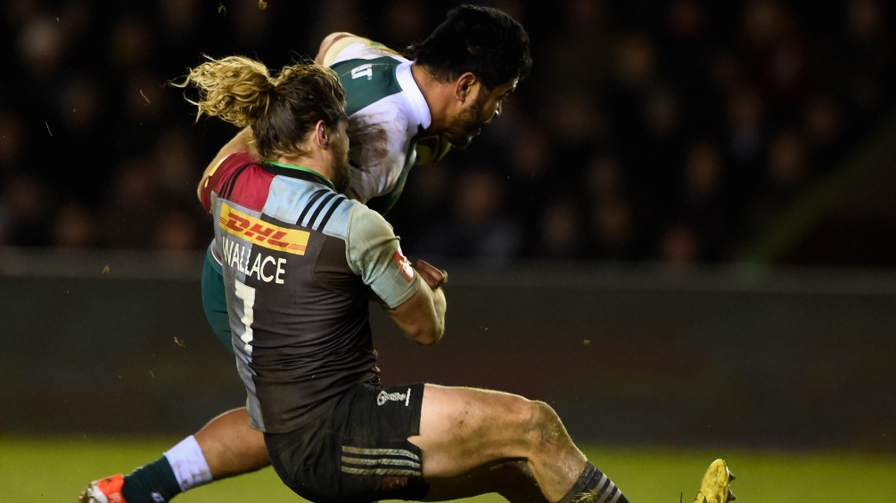 during the Aviva Premiership match between Harlequins and Leicester Tigers at