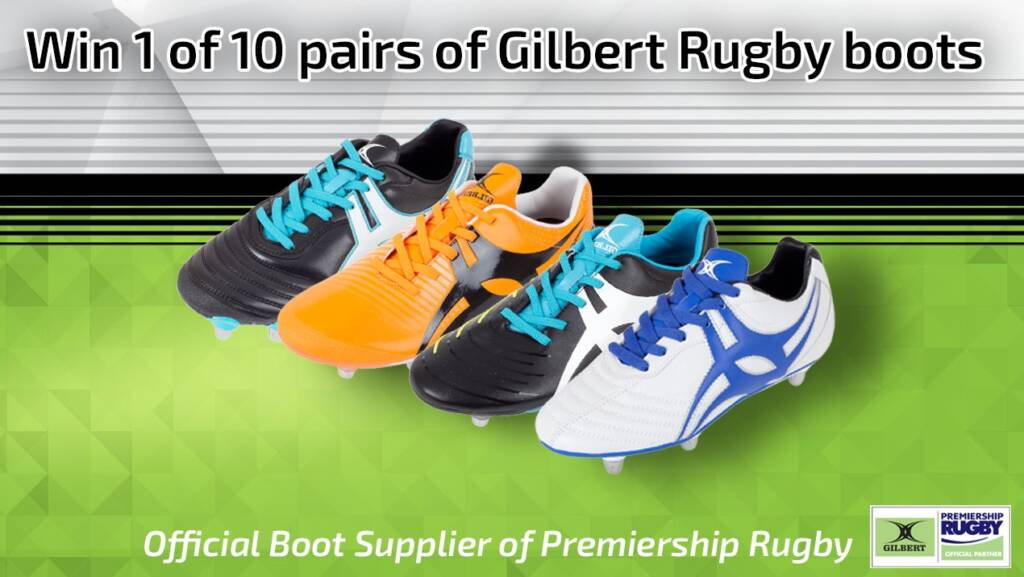 10 pairs of Gilbert boots to be won!