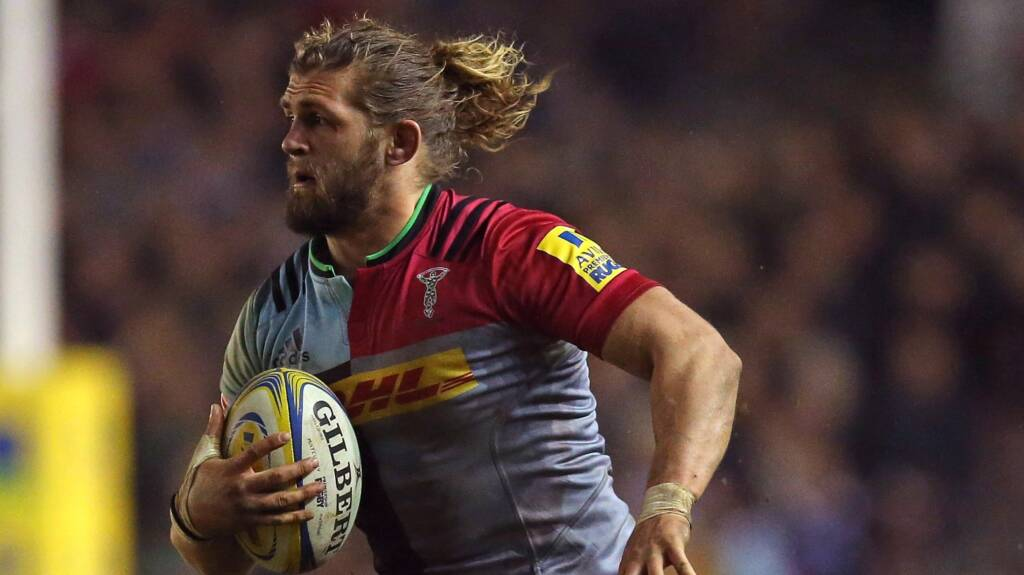 Harlequins' Luke Wallace wins Green Flag Forward of the Month
