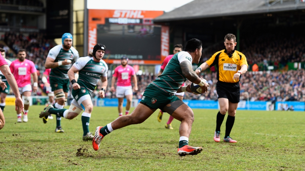 <> at Welford Road on April 10, 2016 in Leicester, England.