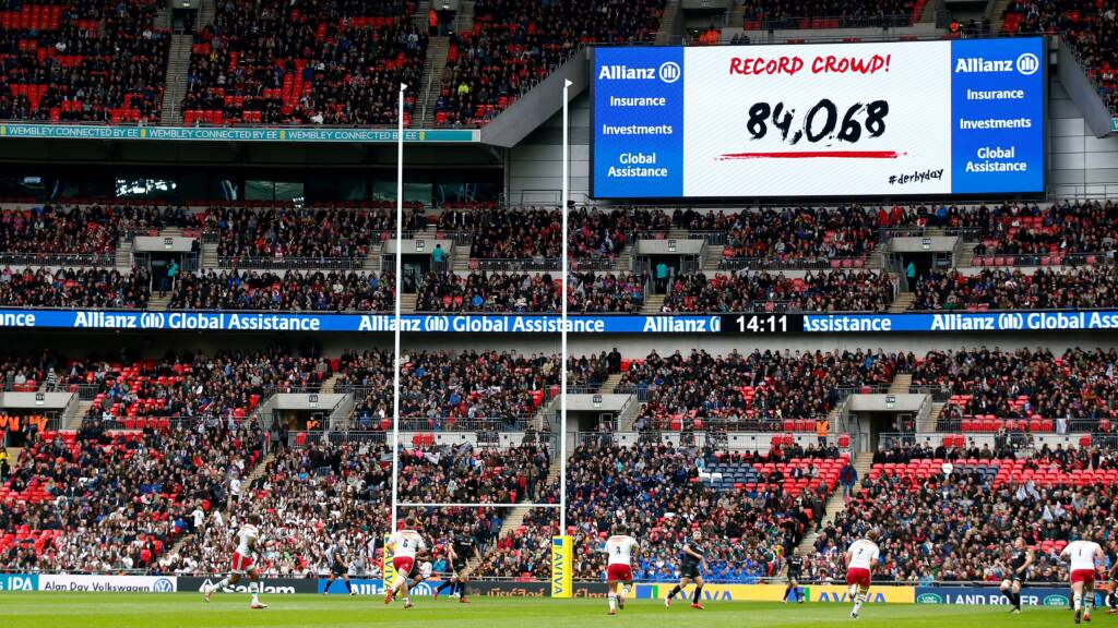 Saracens pass 82,000 tickets sales mark on the eve of Derby Day