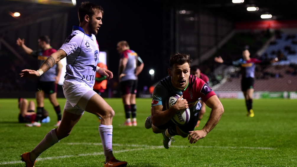Harlequins team to play Grenoble