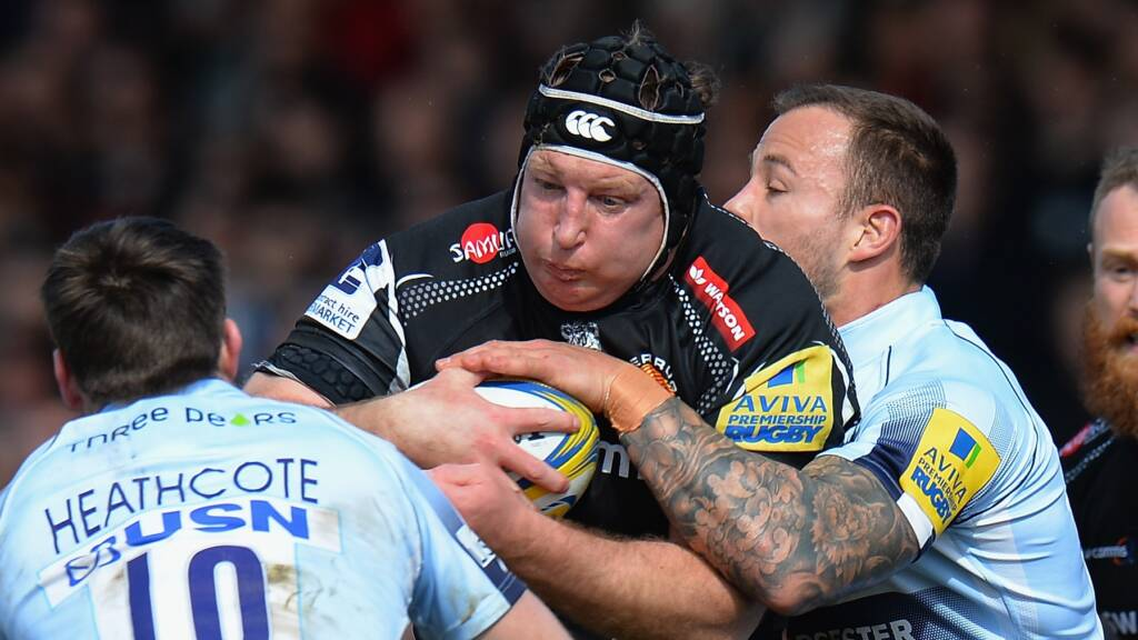 Exeter Chiefs' Thomas Waldrom gets set for Wasps clash