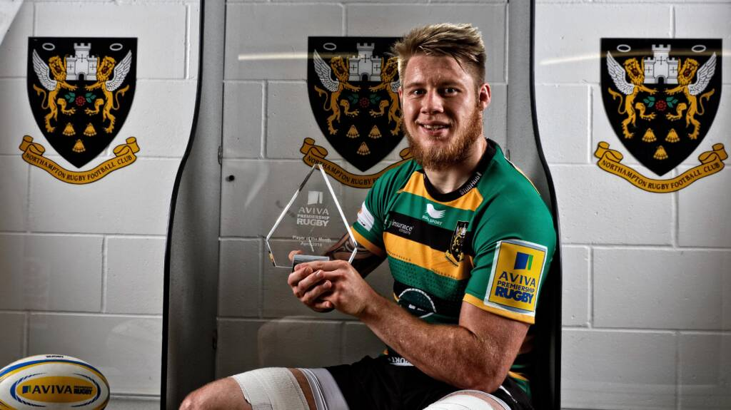 Northampton Saints' Teimana Harrison named Aviva Premiership Rugby Player of the Month for April