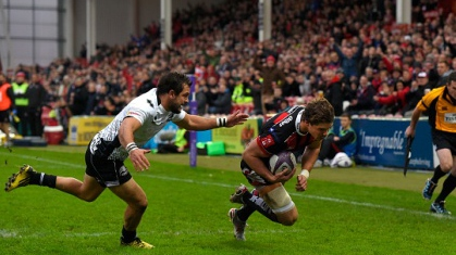 Two-try Purdy on an upward curve for Gloucester Rugby