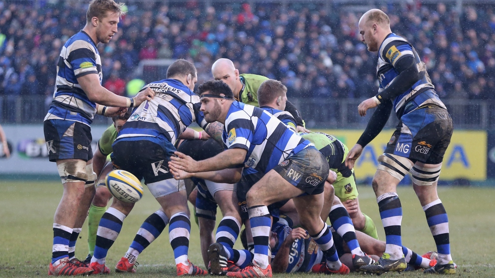 Bath Rugby show their support for the Movember movement