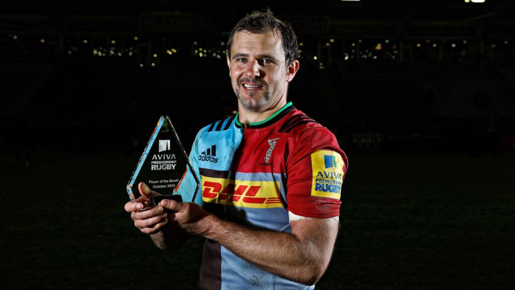 Aviva Premiership Rugby Player of the Month for October 2015