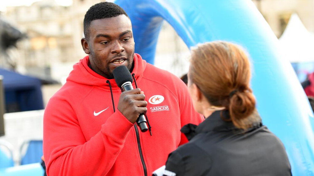 Saracens' Biyi Alo applauds Rugby4All