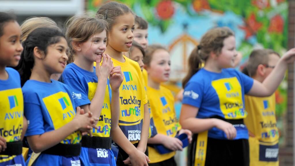 120 school children tackling Twickenham
