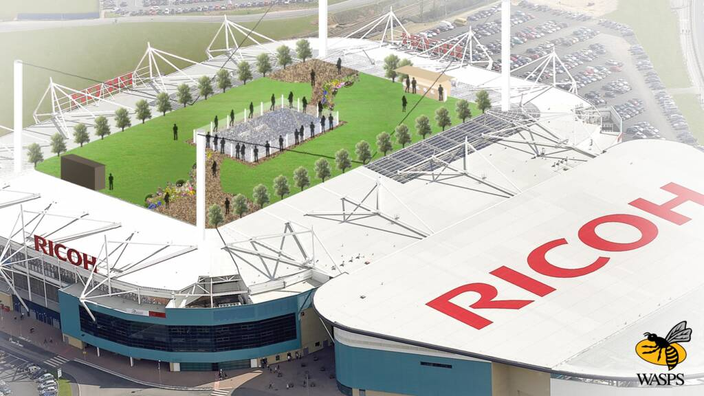 WASPS TO BUILD RETRACTABLE GARDEN ROOF FOR RICOH ARENA