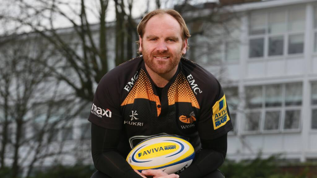Andy Goode supporting the Matt Hampson Foundation for the Aviva Community Fund