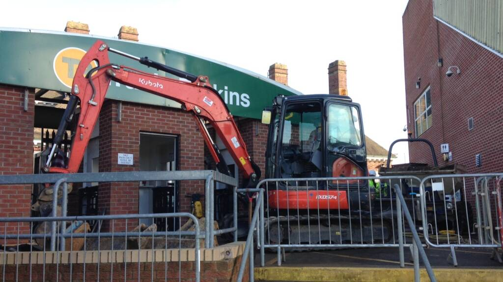 Enabling works keeping Barwell Stand on schedule