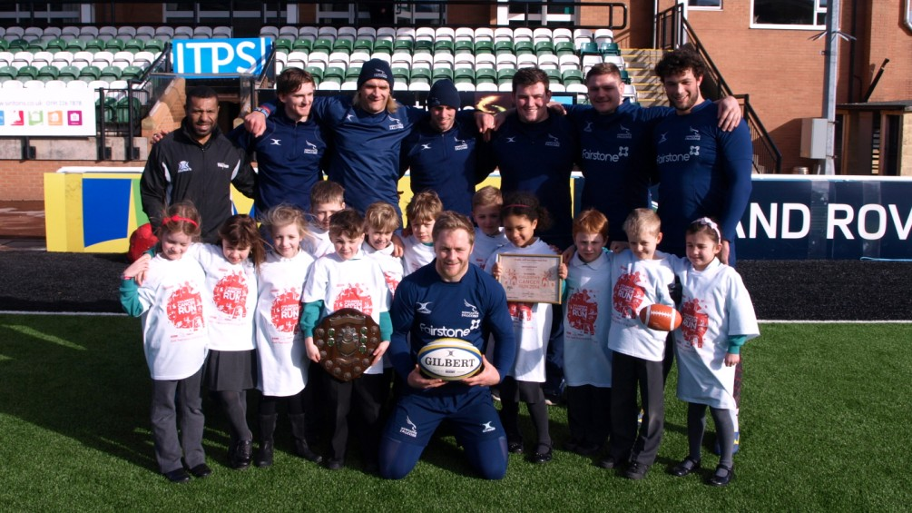 Newcastle Falcons launch Children's Cancer Run