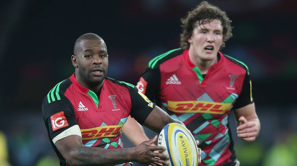 Harlequins team to play Gloucester Rugby