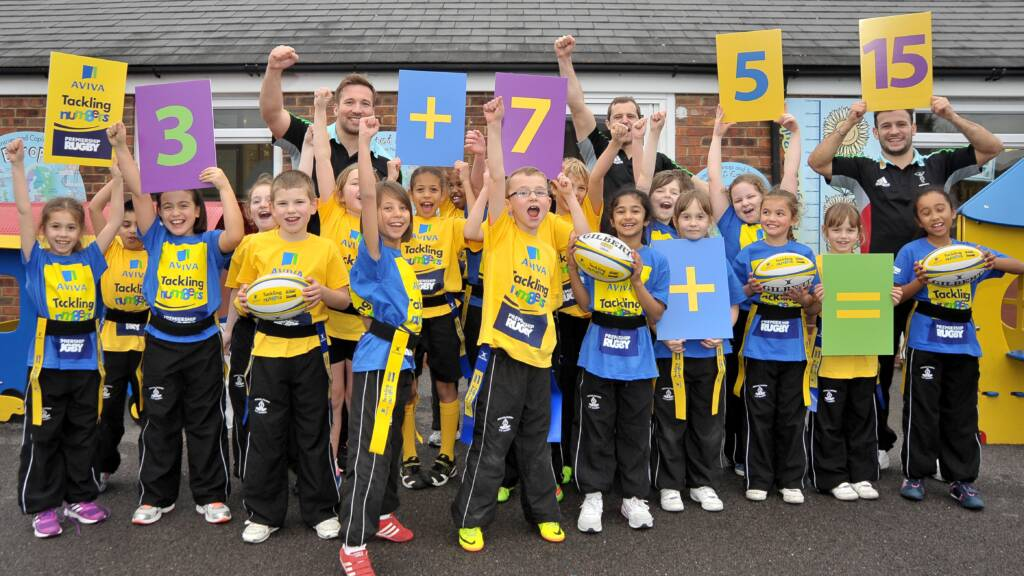 Harlequins stars head back to the classroom to support Aviva Tackling Numbers