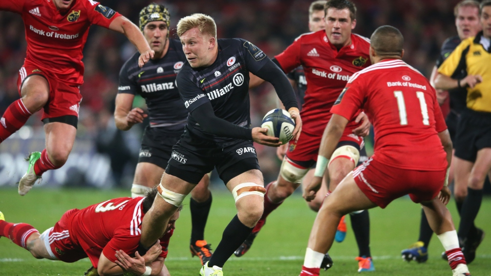 Wray relishing a run as Saracens' No.8
