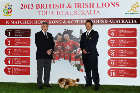 BRITISH & IRISH LIONS ANNOUNCE MATCH SCHEDULE FOR 2013 TOUR TO AUSTRALIA