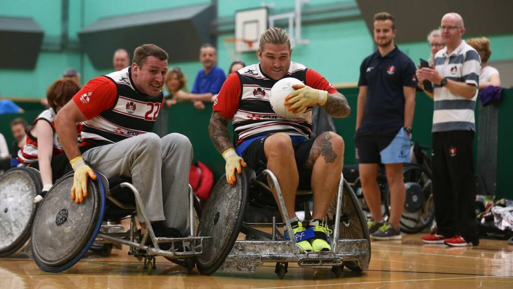International stars try their hand with Gloucester Wheelchair Rugby Club