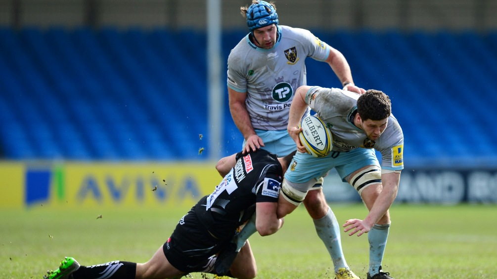 Sion Bennett leading the back-row charge for Northampton Saints