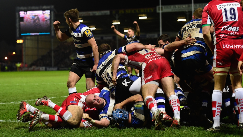 Gloucester Rugby 16 Bath Rugby 39