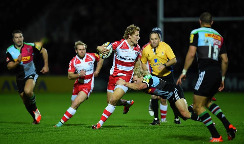 Gloucester Rugby 15 Harlequins 22
