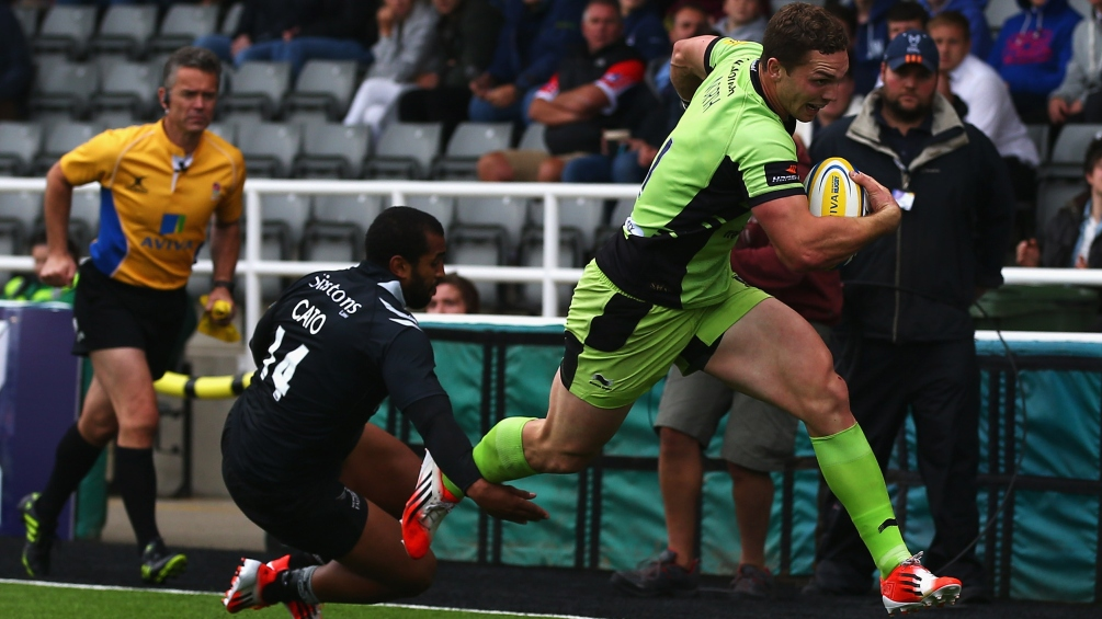 Newcastle Falcons 10 Northampton Saints 35