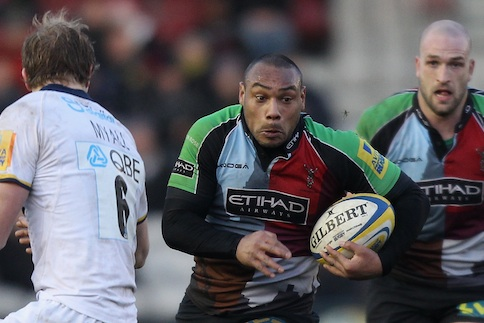 Quins take seven tries against lowly Leeds